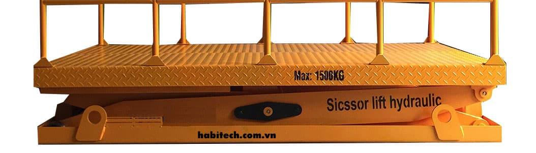 Bàn nâng thủy lực do Habitech sản xuất với mức tải 1500 kg