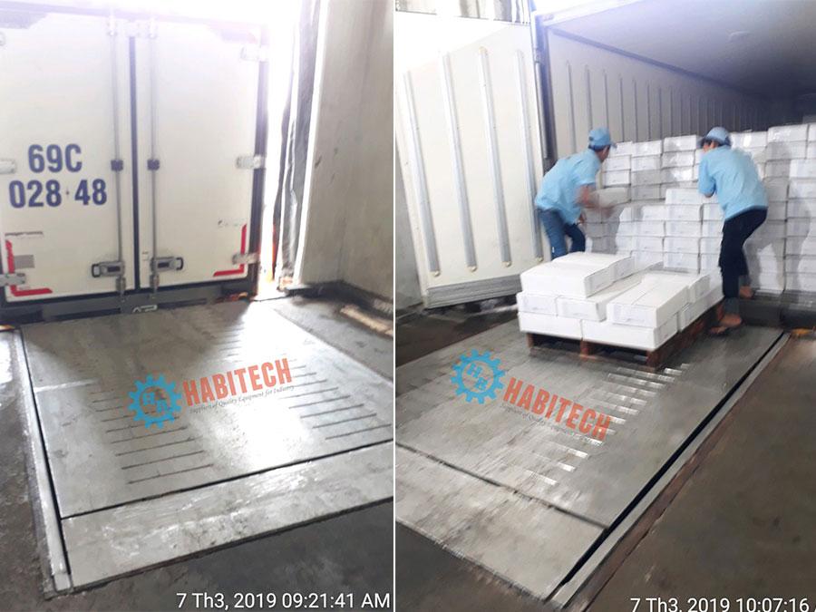 Lắp đặt sàn nâng thủy lực inox tại kho lạnh Hoàng Lai